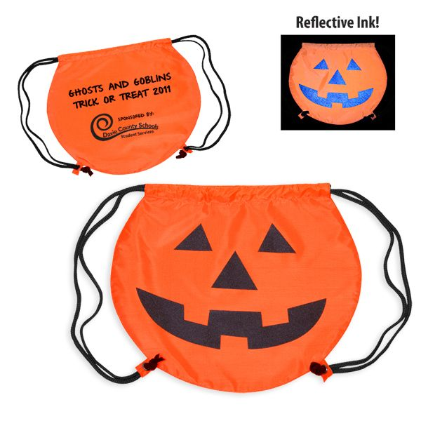 Halloween Pumpkin Trick or Treat Bag Drawstring bag