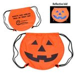 Buy Custom Imprinted Drawstring Backpack Pumpkin