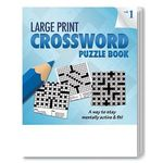 PUZZLE PACK, LARGE PRINT Crossword Puzzle Set - Volume 1 - Multi Color