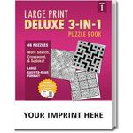 Buy PUZZLE PACK,  Large Print Deluxe 3-in-1 Puzzle Book