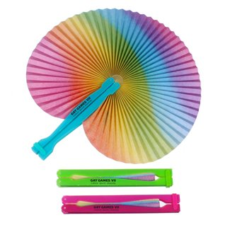 Main Product Image for Custom Imprinted Rainbow Folding Fan