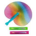 Buy Custom Imprinted Rainbow Folding Fan