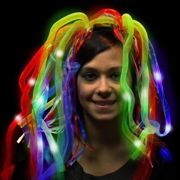 Main Product Image for Costume Rainbow LED Light Up Costume Diva Dreads (TM)