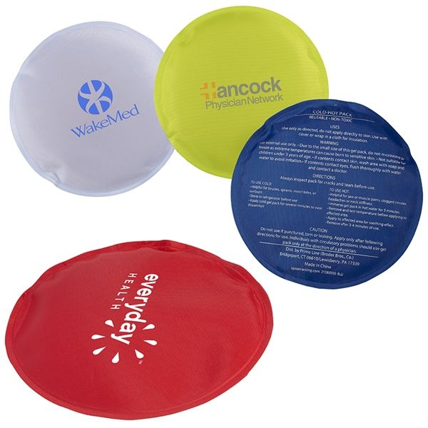 Main Product Image for Round Nylon Covered Gel Hot/Cold Pack