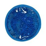 Round Plush (with Elastic) Hot/Cold Gel Bead Pack - Blue