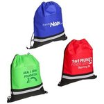 Buy Custom Imprinted Drawstring Bag Safety with Reflective Strip