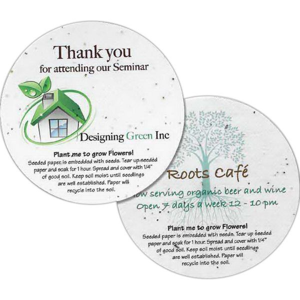 Main Product Image for Seeded Paper Round Coaster