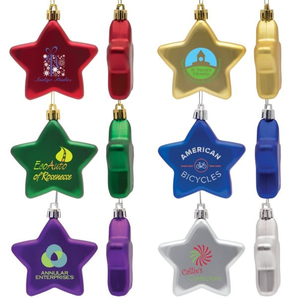 Flat Star Ornaments in Bulk | Personalized Christmas Tree ...