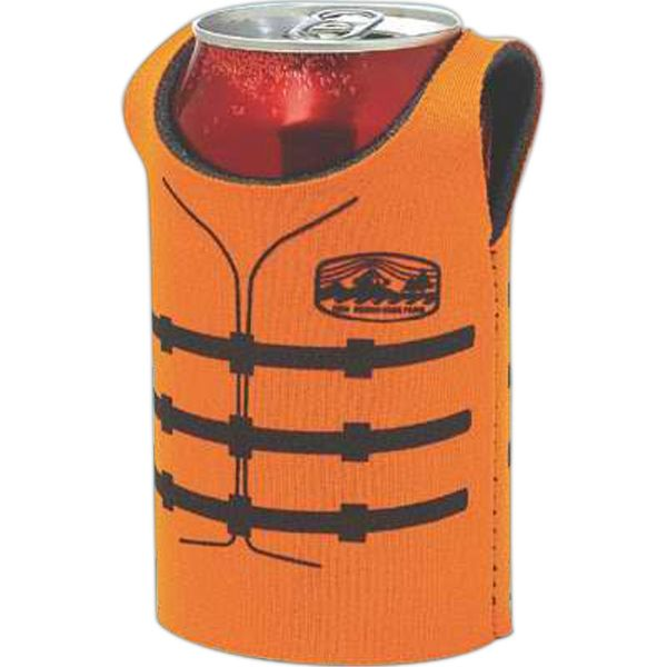 Main Product Image for Life Jacket Sleeveless Can Cooler Koozie