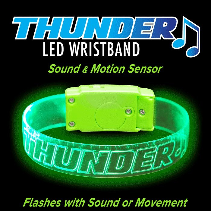 Main Product Image for Sound Activated LED Wristband - Engraved