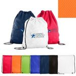 Buy Custom Imprinted Drawstring Backpack made of Jersey Mesh