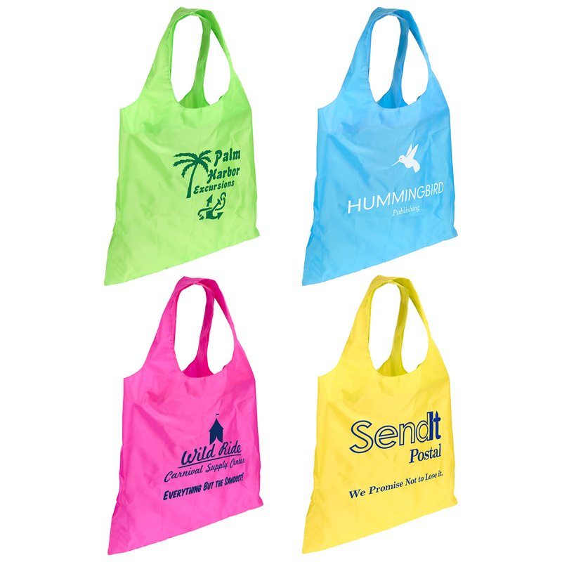 d5b034924a23 Main Product Image for Custom Imprinted Tote Bag Spring Sling Folding Bag
