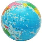 Squeezies® Printed Globe Stress Reliever - Multi Color