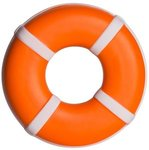 Squeezies(R) Life Ring Stress Reliever - Orange-white