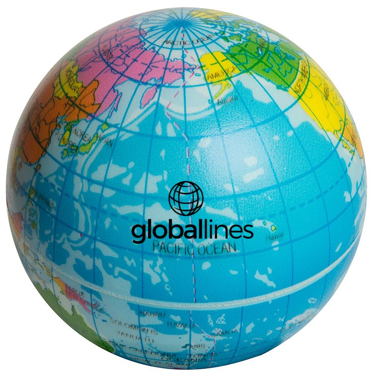 Main Product Image for Squeezies(R) Printed Globe Stress Reliever