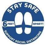 Buy Stay Safe Floor Decals - Circle 12""