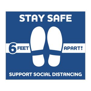 Main Product Image for Stay Safe Floor Decals - Square