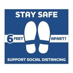 Buy Stay Safe Floor Decals - Square
