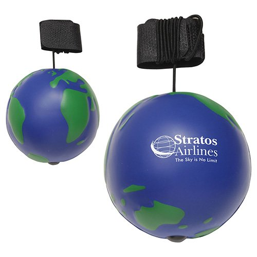 Main Product Image for Stress Reliever Bungee Ball - Earth