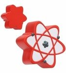 Stress Reliever Atomic Symbol - Red/White
