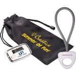 Stride Pedometer & Stretch Band in a Pouch - White
