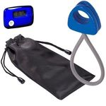 Stride Pedometer & Stretch Band in a Pouch -