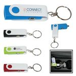 Buy Custom Imprinted Key Chain with Swivel USB Car Adapter