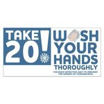 Take 20! Wash Your Hands Stickers - Imprinted - White