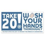 Take 20! Wash Your Hands Stickers - White