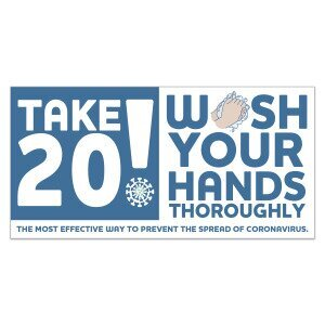 Main Product Image for Take 20! Wash Your Hands Stickers