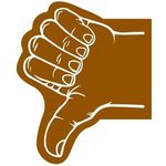Thumb Foam Hand - Brown