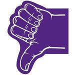 Thumb Foam Hand - Purple