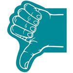 Thumb Foam Hand - Teal