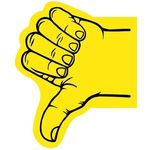 Thumb Foam Hand - Yellow