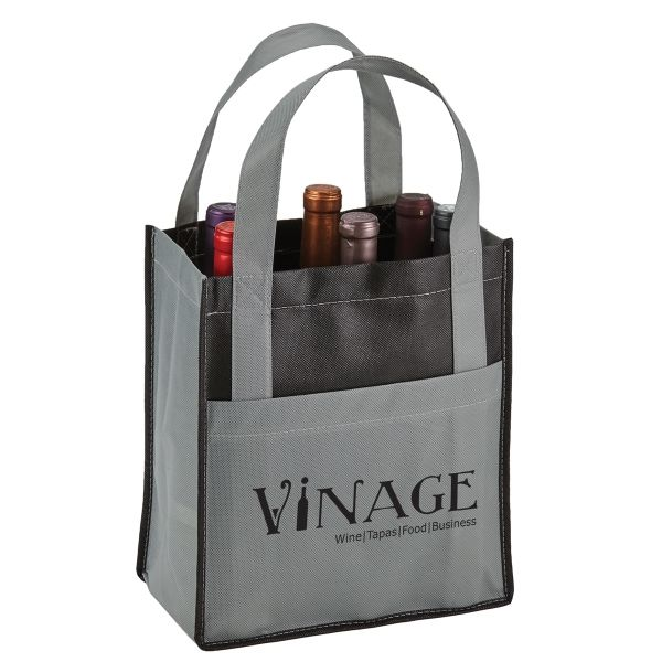Main Product Image for Toscana Six Bottle Non-Woven Wine Tote