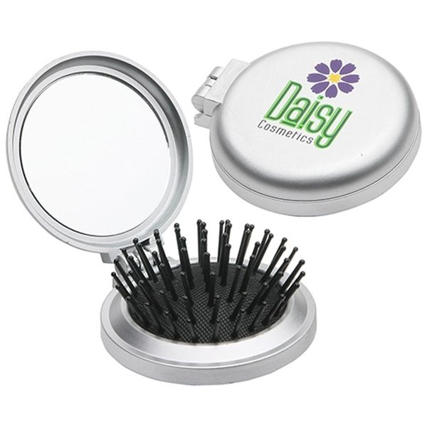 Main Product Image for Travel Disk Brush & Mirror