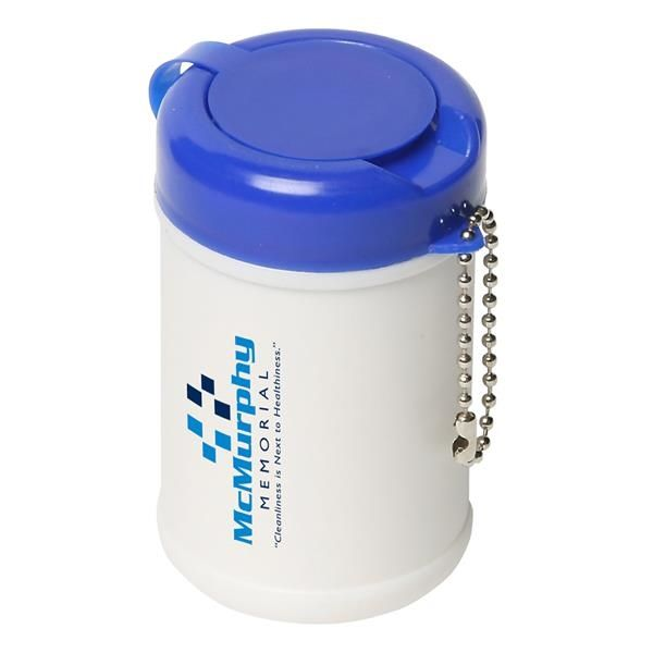 Main Product Image for Travel Well Sanitizer Wipes Key Chain