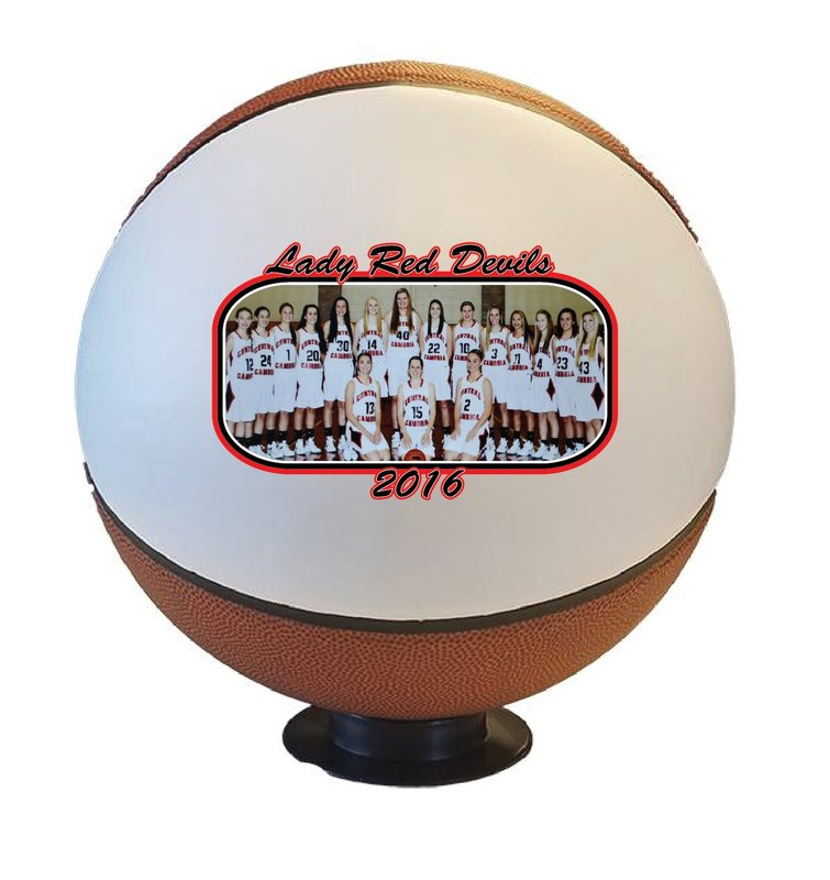 Main Product Image for Trophy Custom Printed Team Photo Basketball - Full Size