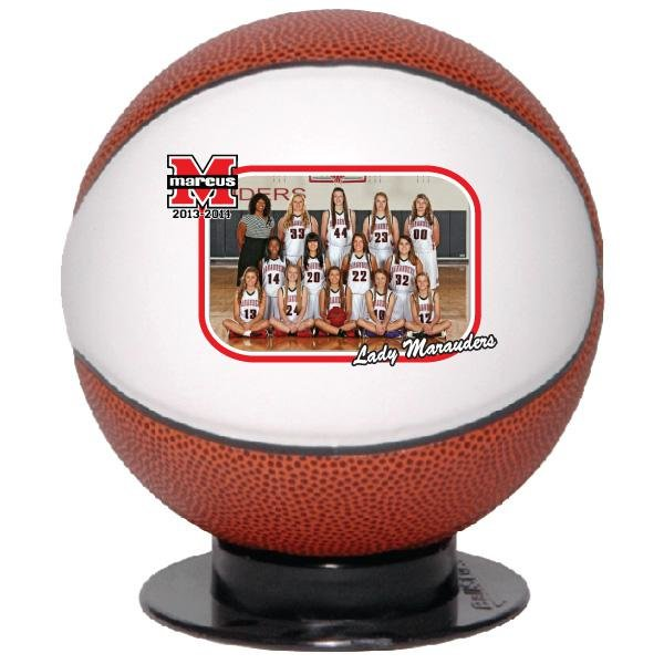 Main Product Image for Mini Basketball With Full Color Logo Or Photograph