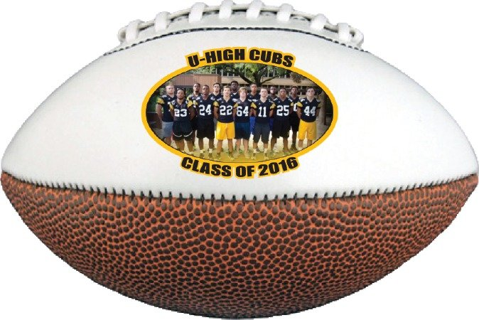 Main Product Image for Mini Football With Full Color Logo Or Photograph - 6.5""