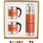 Tuscany (TM) Coffee Cup and Thermos Set - Red