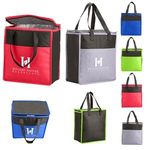 Buy Custom Imprinted Grocery Tote Two-Tone Flat Top Insulated