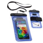 Waterproof Smart Phone Case with 3.5mm Audio Jack - Medium Blue
