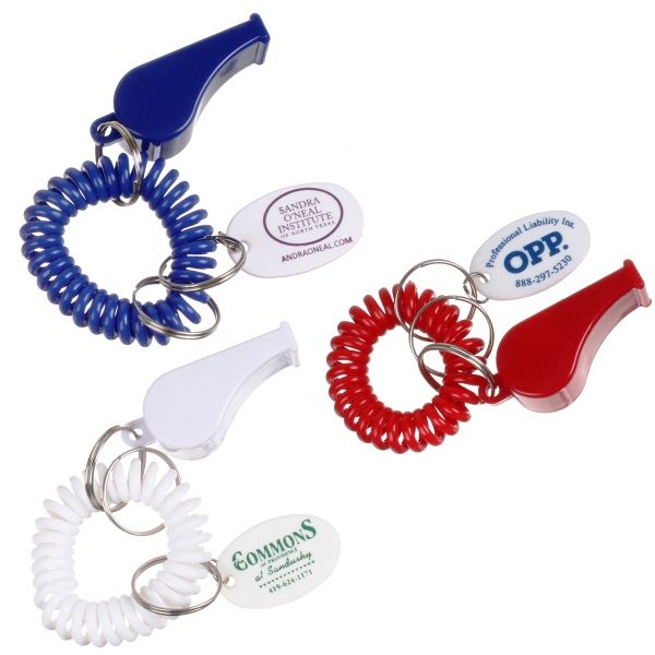Main Product Image for Custom Imprinted Key Chain with Whistle and Coil