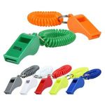 Whistle Key Chain with Coil -
