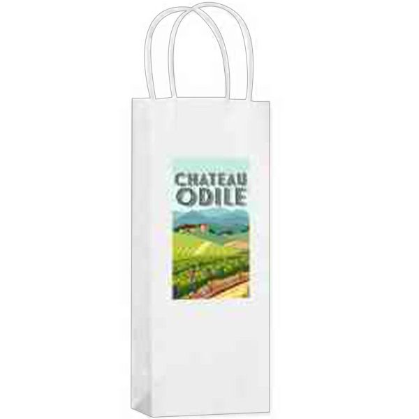 Main Product Image for White Kraft 1-Bottle Wine Tote Bag
