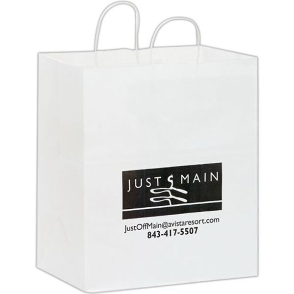 Main Product Image for White Kraft Carry-Out Bags