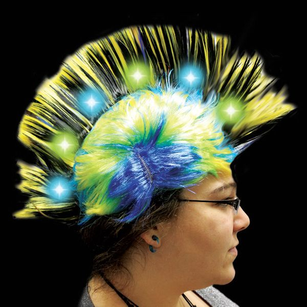Main Product Image for Costume Wig Yellow Light Up LED Mohawk Costume Wig 1c9585d08