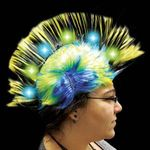 Buy Costume Wig Yellow Light Up LED Mohawk Costume Wig