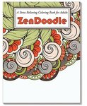 ZenDoodle Stress Relieving Coloring Book for Adults - Multi Color